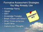 formative assessment strategies you may already use