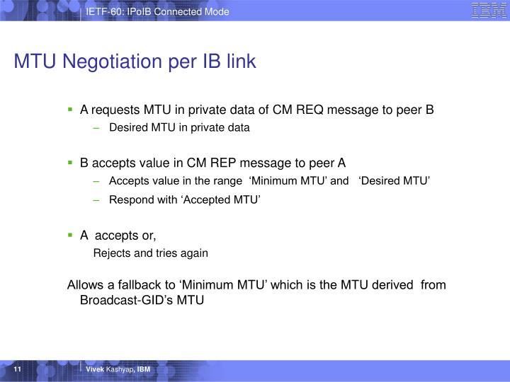 MTU Negotiation per IB link