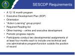 sescdp requirements