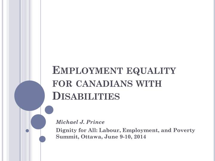employment equality for canadians with disabilities