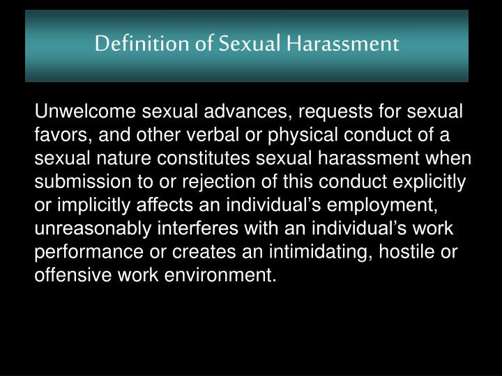 Sexual harassment at work ppt