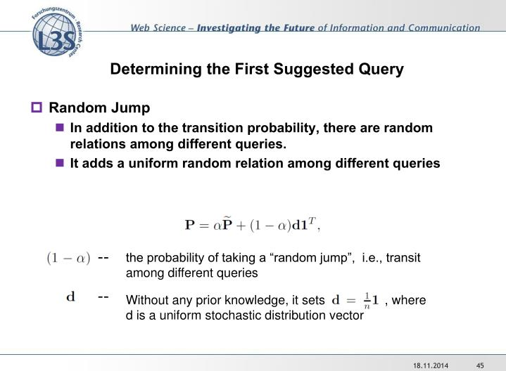 Determining the First Suggested Query