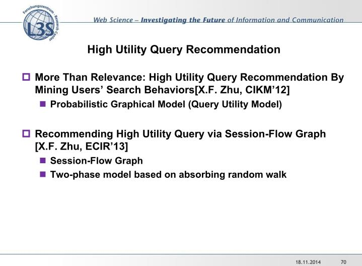 High Utility Query Recommendation