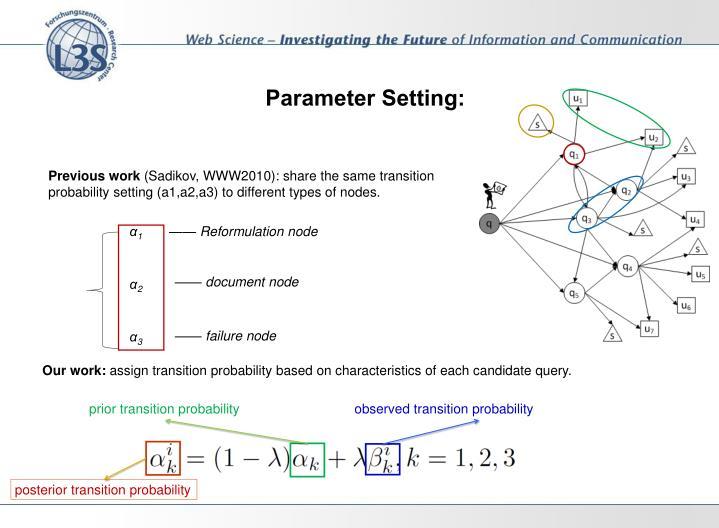 Parameter Setting: