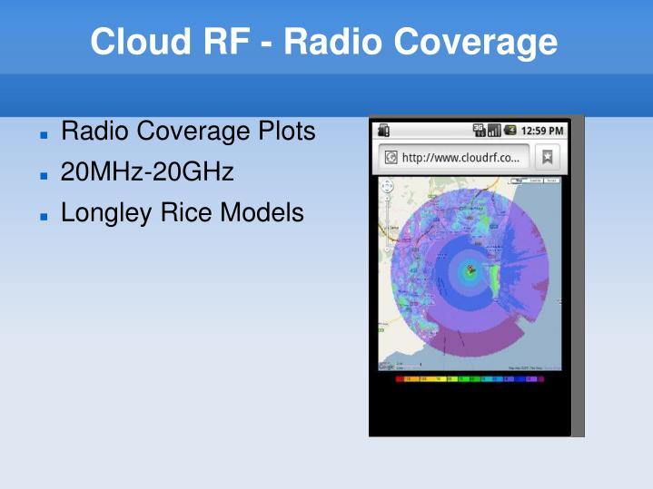 Cloud RF - Radio Coverage