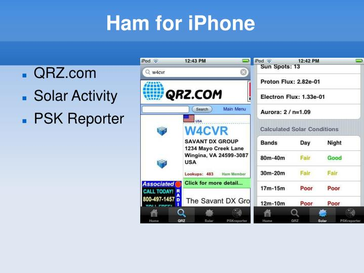Ham for iPhone