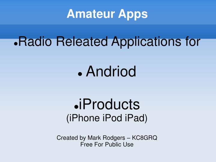 Amateur Apps