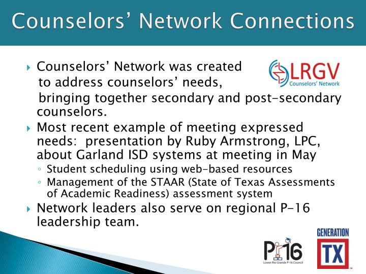 Counselors' Network Connections