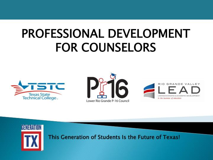 Professional development for counselors