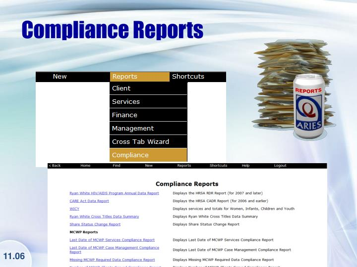 Compliance Reports