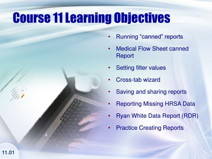 Course 11 Learning Objectives