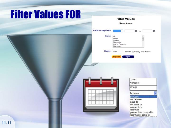 Filter Values FOR