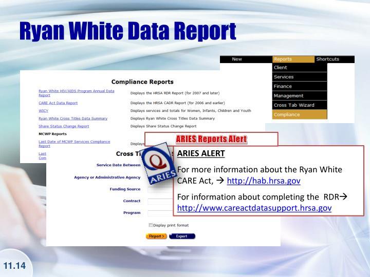 Ryan White Data Report