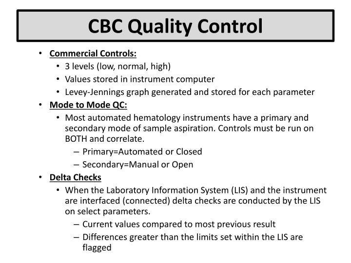 cbc parameters