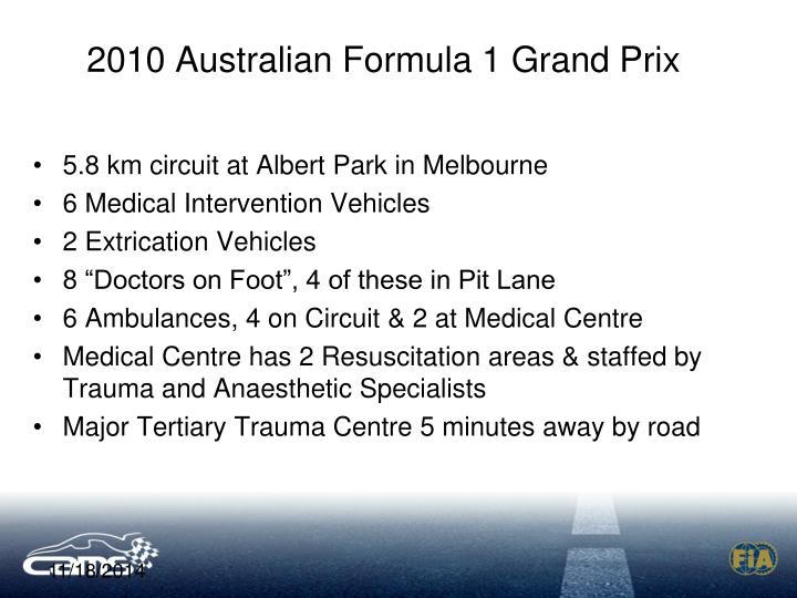 2010 Australian Formula 1 Grand Prix