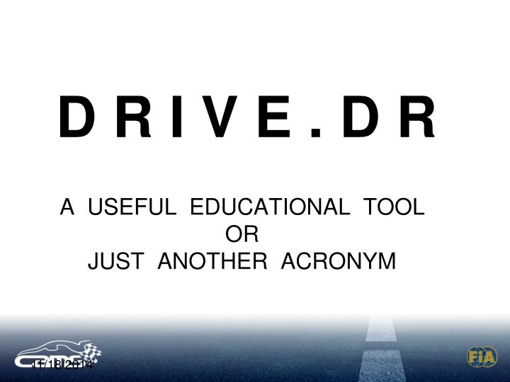 A useful educational tool or just another acronym