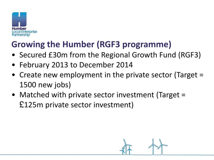 Growing the Humber (RGF3 programme)