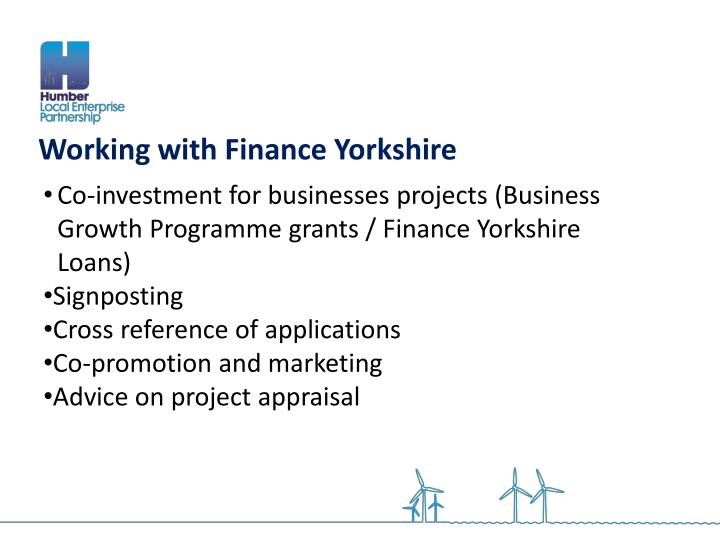 Working with Finance Yorkshire