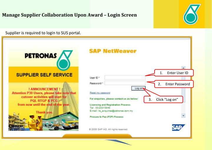Manage Supplier Collaboration Upon Award