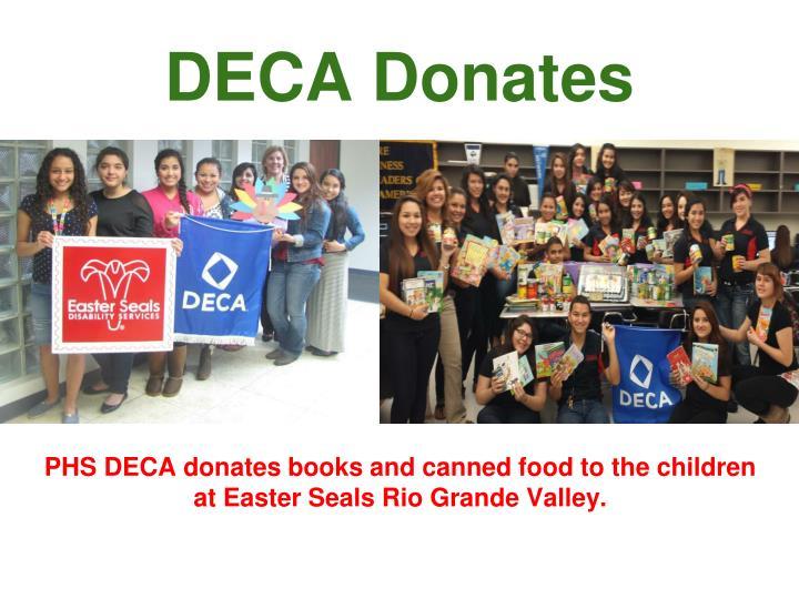 DECA Donates