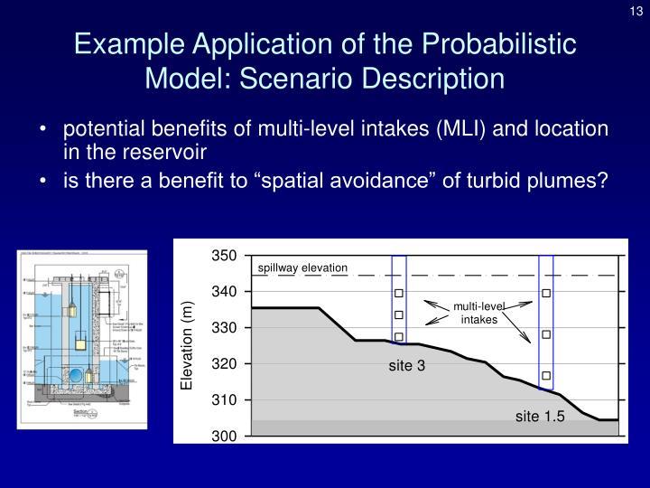 Example Application of the Probabilistic Model: Scenario Description