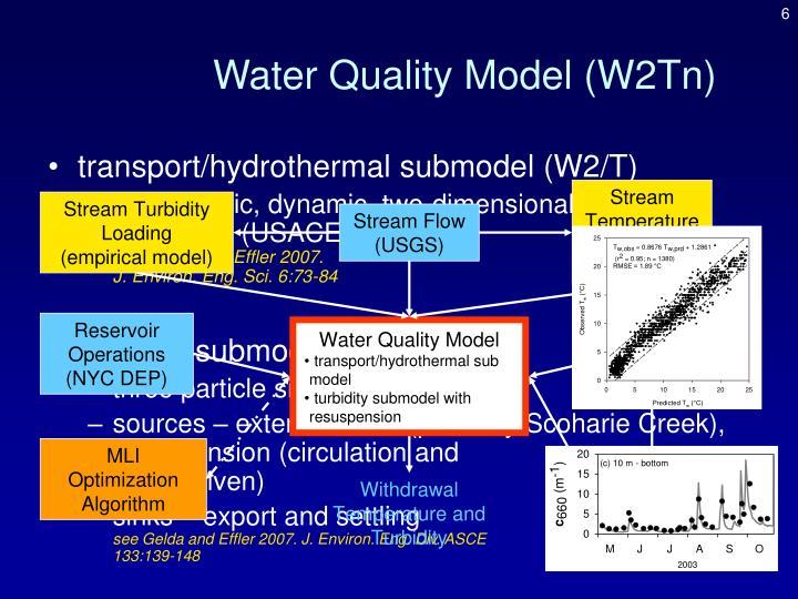 Water Quality Model (W2Tn)