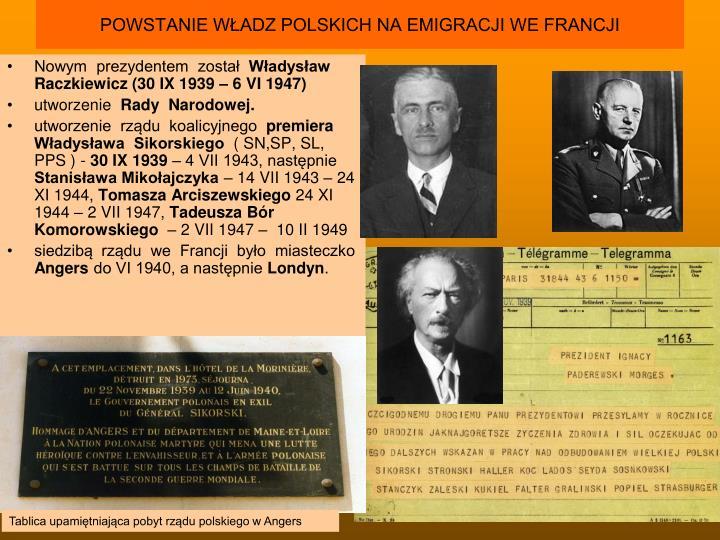 Ppt Rz D Polski Na Emigracji Na Terenie Kraju