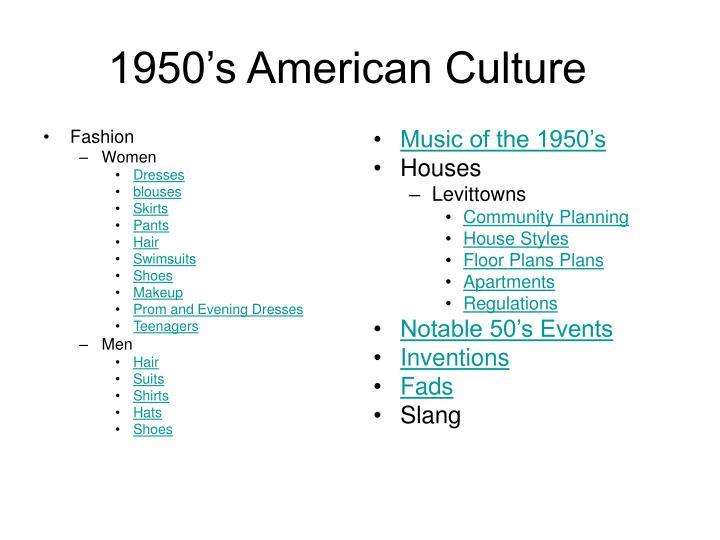 1950 s american culture1
