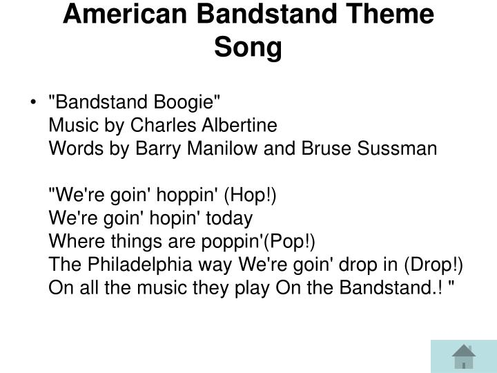 American Bandstand Theme Song