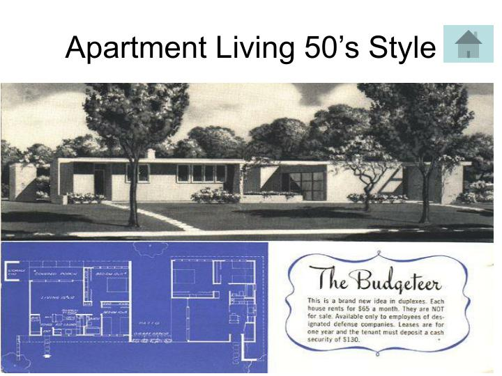 Apartment Living 50's Style