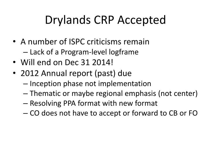 Drylands crp accepted