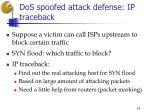 dos spoofed attack defense ip traceback