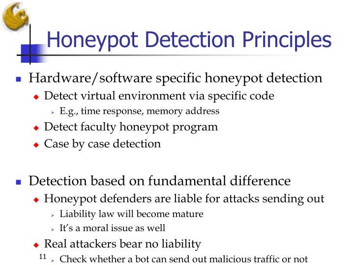 Honeypot Detection Principles