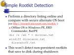simple rootkit detection
