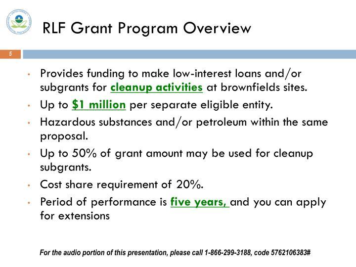 RLF Grant Program Overview