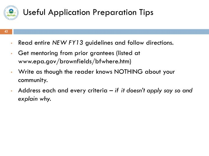 Useful Application Preparation Tips