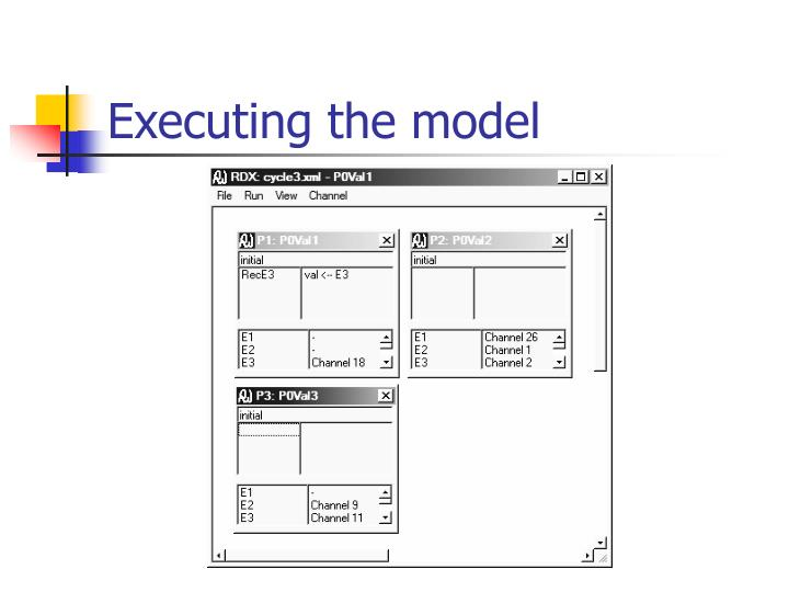 Executing the model