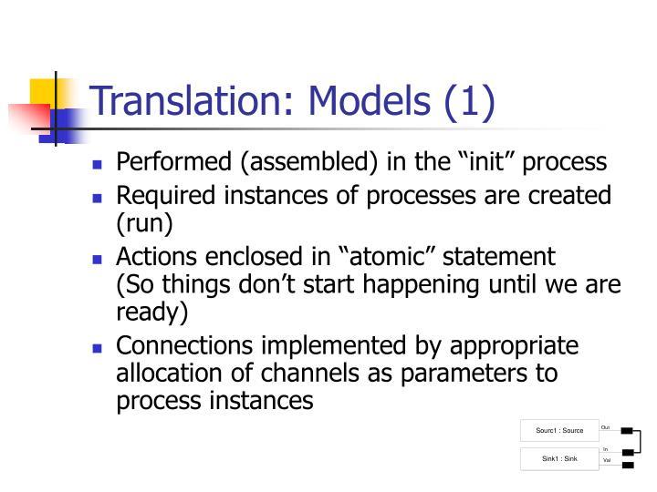 Translation: Models (1)