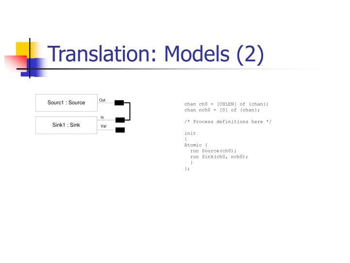 Translation: Models (2)