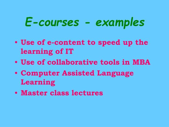 E-courses - examples