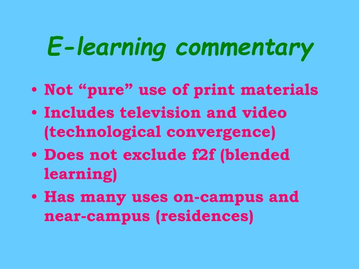E-learning commentary