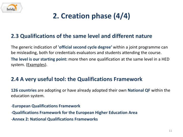 2. Creation phase (4/4)