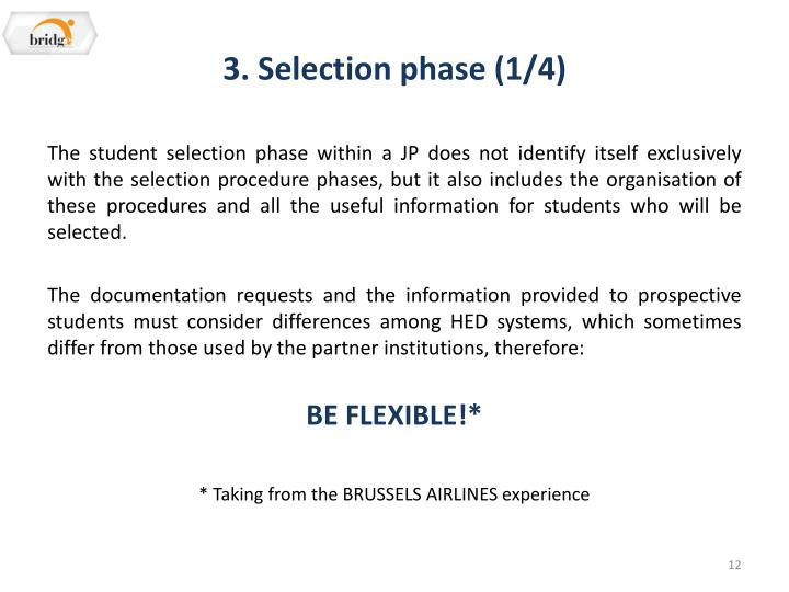 3. Selection phase (1/4)