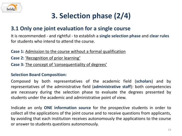 3. Selection phase (2/4)