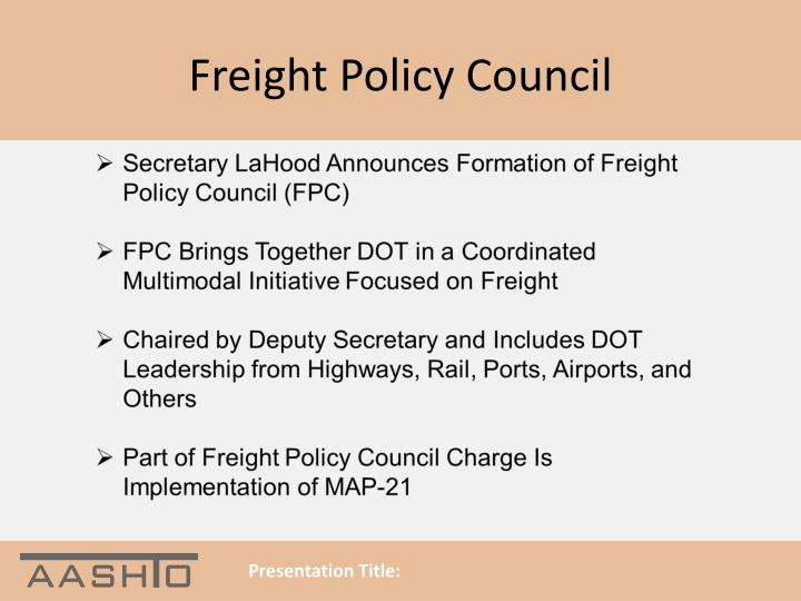 Freight Policy Council