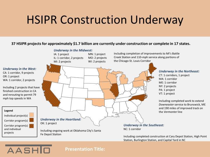 HSIPR Construction Underway