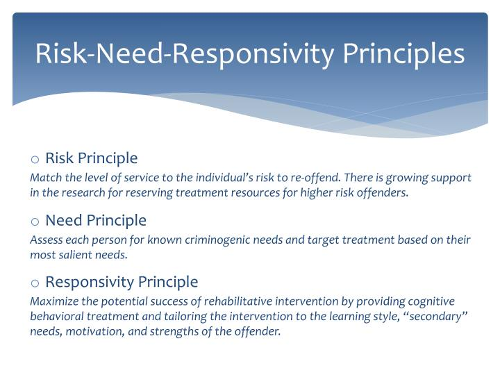 risk assessment and evidence based practice Colorado probation and evidence-based practices a systemic view of the past, present & future  risk/needs assessment instruments the lsi for adults and cyo-lsi for.