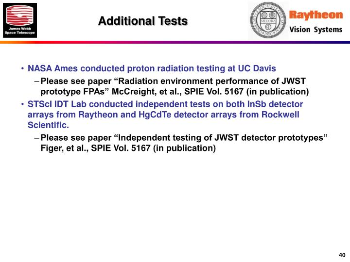 Additional Tests