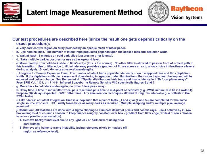 Latent Image Measurement Method