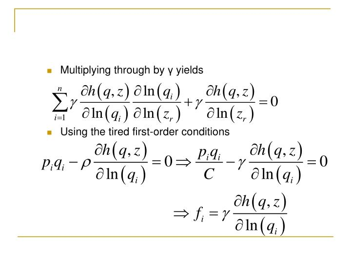 Multiplying through by